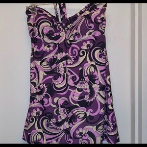 Always For Me Purple Paisley Swimdress